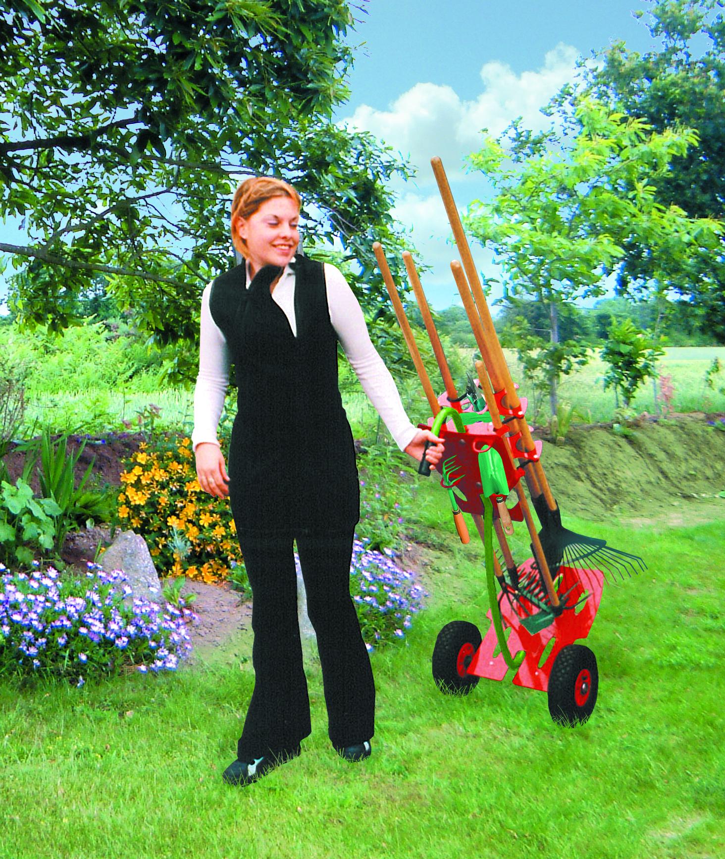 chariot porte-outils de jardin tout terrain