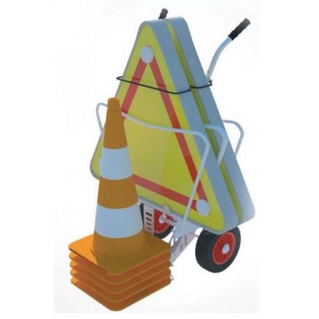 Chariot de balisage 2 triangles