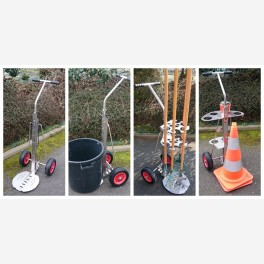 Cleaner and landscapes trolley - Stainless