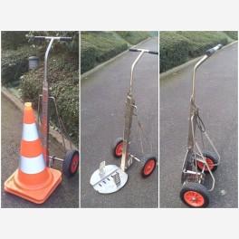 Chariot de transport cônes de signalisation