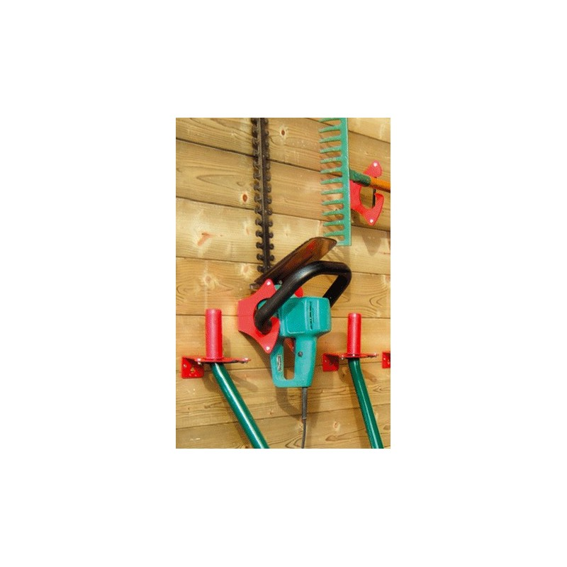 Range outils fixe crochet fixation outil abris de jardin - Ratelier outils de jardin ...